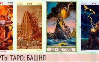 Карта Таро Башня: сочетание с другими картами